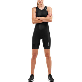 2XU Perform Front Zip Damer, black/black